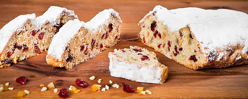 Cranberry-Whiskey-Stollen